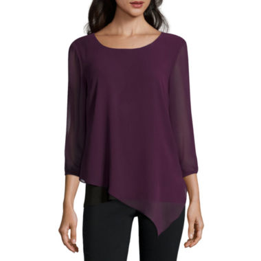 jcpenney.com | Alyx 3/4 Sleeve Scoop Neck Blouse