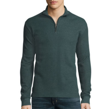 jcpenney.com | St. John's Bay® Long-Sleeve Quarter-Zip Thermal Pullover