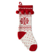 Pom Pom Snowflake Stocking