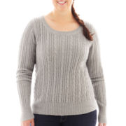 Arizona Cable Knit Sweater - Plus