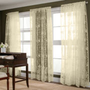 jcp home™ Shari Lace Rod-Pocket Curtain Panel