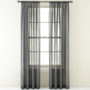 Royal Velvet® Crushed Voile Rod-Pocket Curtain Panel