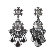 Mixit™ Dark Gray Cluster Drop Earrings