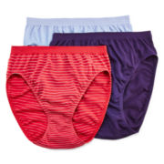 Jockey® Comfies® 3-pk. High-Cut Panties - 3347