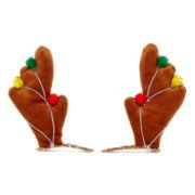 Reindeer Antler Christmas 2-pc. Snap Hair Clip Set