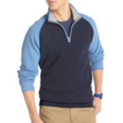 IZOD® Quarter-Zip Raglan Fleece Pullover