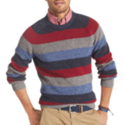 IZOD® Long-Sleeve Rugby Stripe Sweater