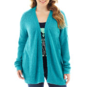 Arizona Open-Front Cardigan - Plus
