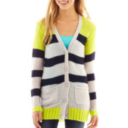 Arizona Long-Sleeve Striped Cardigan Sweater
