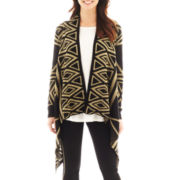 i jeans by Buffalo Long-Sleeve Open-Front Aztec Print Sweater