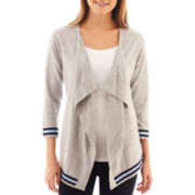 jcp™ Tipped Flyaway Cardigan