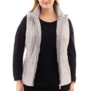 Liz Claiborne Quilted Puffer Vest - Plus