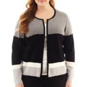 Liz Claiborne® Long-Sleeve Sweater Jacket - Plus