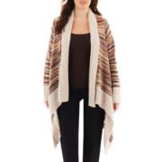 a.n.a® Space-Dyed Striped Flyaway Cardigan - Plus