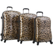 Heys® Exotic Leopard Hardside Spinner Upright Luggage Collection