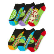 Teenage Mutant Ninja Turtles Womens 6-pk. No-Show Socks
