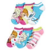 Disney Frozen Womens 6-pk. No-Show Socks