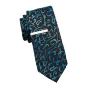 JF J. Ferrar® Jack Vine Tie and Tie Bar - Slim