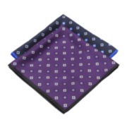 Collection by Michael Strahan Medallion Pocket Square