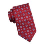 Stafford® Amber Medallion Silk Tie - Slim