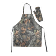 Rewards® Camo Print BBQ Apron and Mit Set