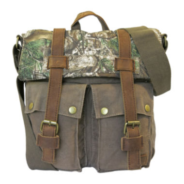 jcpenney.com | Realtree® Leather-Trim Canvas Crossbody Bag