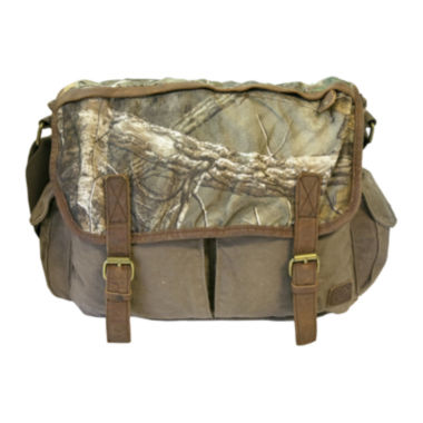 jcpenney.com | Realtree® Leather-Trim Canvas Messenger Bag