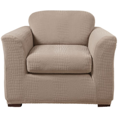 jcpenney.com | SURE FIT® Stretch Faux-Crocodile Slipcover Collection
