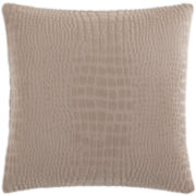 "SURE FIT® Stretch Faux-Crocodile 18"" Decorative Pillow"