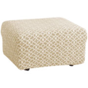 SURE FIT® Stretch Ironwork 1-pc. Ottoman Slipcover