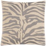 "SURE FIT® Stretch Zebra 18"" Decorative Pillow"