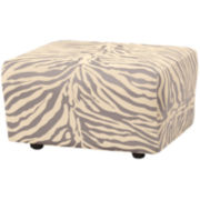 SURE FIT® Stretch Zebra 1-pc. Ottoman Slipcover