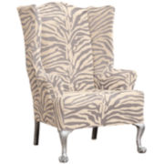 SURE FIT® Stretch Zebra 1-pc. Wing Chair Slipcover