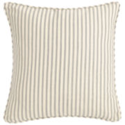 "SURE FIT® Ticking Stripe 18"" Decorative Pillow"