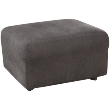 jcpenney.com | SURE FIT® Ultimate Stretch Faux-Leather 1-pc. Ottoman Slipcover