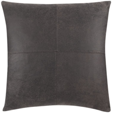 "jcpenney.com | SURE FIT® Ultimate Stretch Faux-Leather 21"" Decorative Pillow"