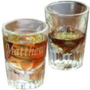 Cathy's Concepts Set of 2 Engravable Fluted Shot Glasses