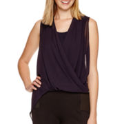 BELLE + SKY™ Long-Sleeve Drape-Front Top