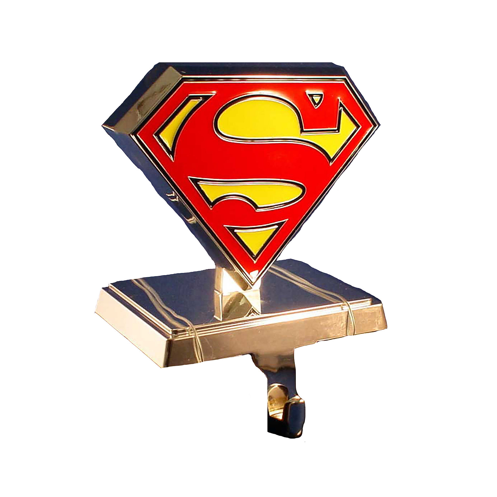 UPC 086131265679 product image for Kurt Adler Silver-Tone Superman Logo Stocking Hanger | upcitemdb.com