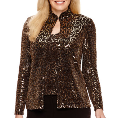 jcpenney.com | Blu Sage Long-Sleeve Sequin Twinset