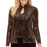 Blu Sage Long-Sleeve Sequin Twinset