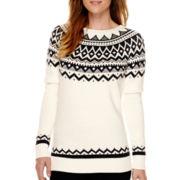 St. John's Bay® Fairisle Sweater - Tall