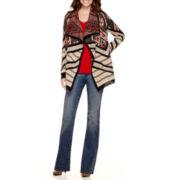 St. John's Bay® Fairisle Flyaway, V-Neck T-Shirt or Bootcut Jeans - Tall