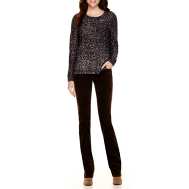jcpenney.com | St. John's Bay® Marled Cable Sweater or Straight-Leg Corduroy Pants - Tall