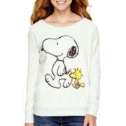 Long-Sleeve Peanuts Snoopy Stroll Pullover Sweatshirt
