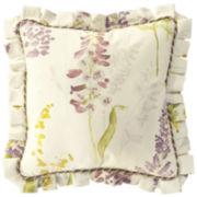 "Williamsburg Abigail 18"" Printed Square Decorative Pillow"