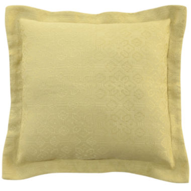 "jcpenney.com | Williamsburg Abigail 18"" Mattelasse Square Decorative Pillow"