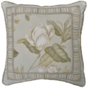 "Williamsburg Grandiflora 18"" Square Decorative Pillow"