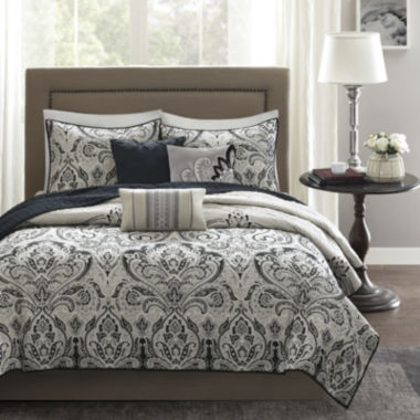 jcpenney.com | Madison Park Omega Damask 6-pc. Quilted Coverlet Set