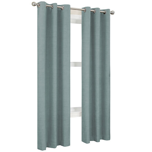 Sun Zero™ Mirage Thermal Lined Grommet-Top Curtain Panel